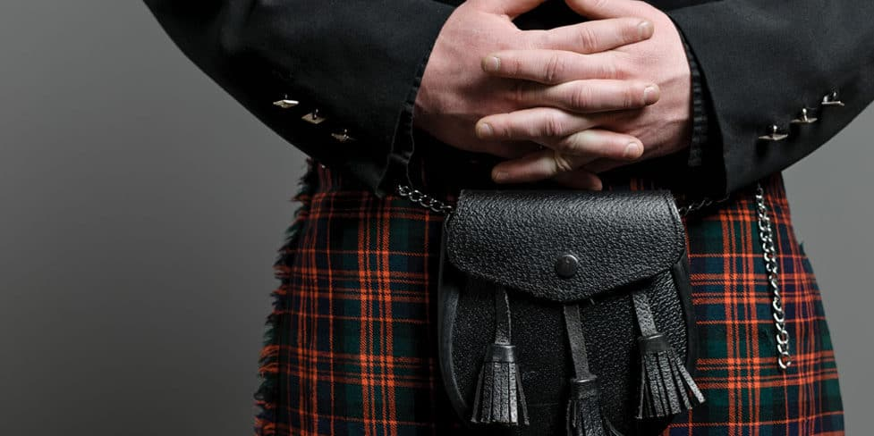 Image of a man in a kilt outfit, illustrating the concept of a Scottish limited company.