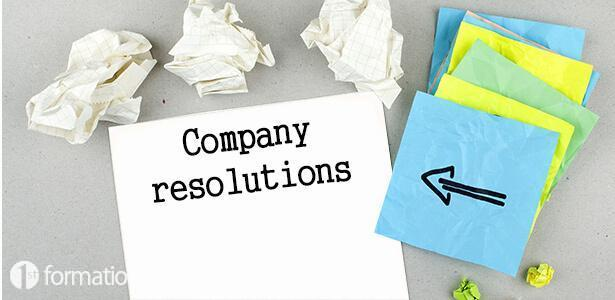 The company resolution paper