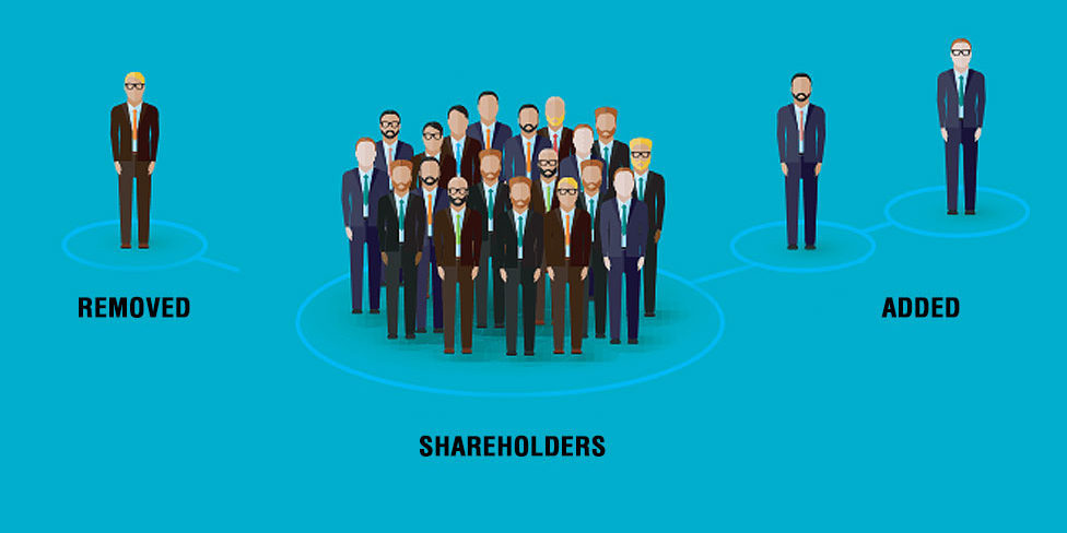adding and removing company shareholders