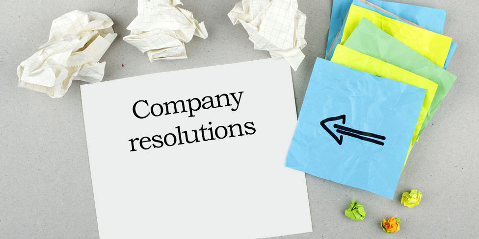 What are limited company resolutions?