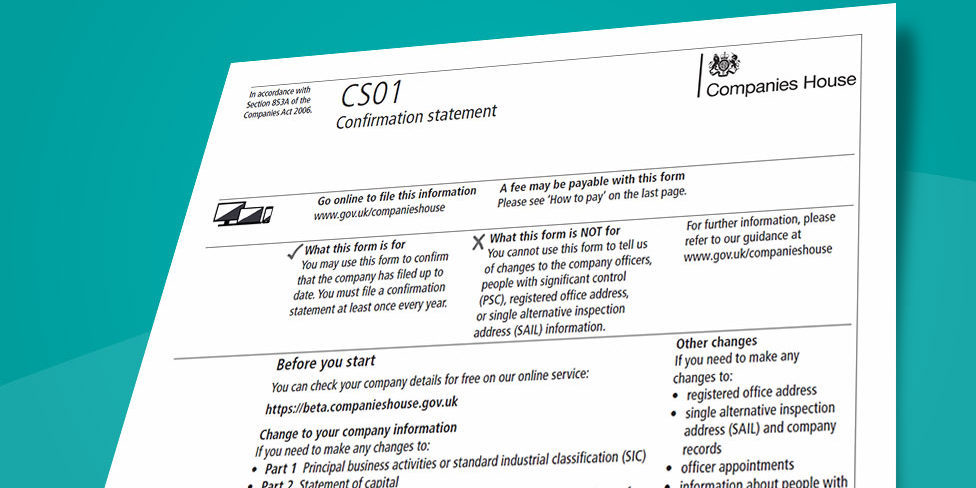 What Does C O Mean On A Letter.The Confirmation Statement Explained