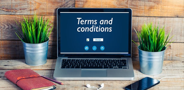 10. Company terms and conditions